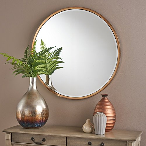 Christopher Knight Home Christopher Knight Home Abram Circular Wall Mirror With Rose Gold Finished Stainless Steel Frame Rose Gold From Amazon Daily Mail