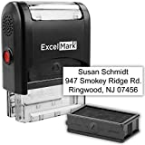 Custom Self Inking Rubber Stamp - 3 Lines