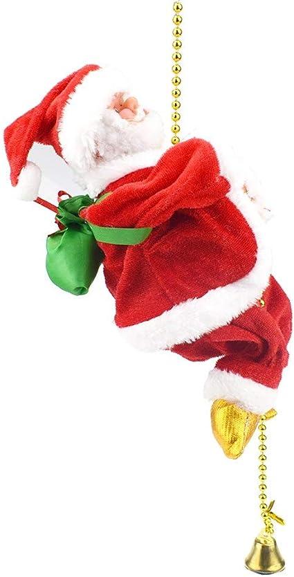 QACFD Santa Claus Cuerda De Escalada Adorno De Navidad ...