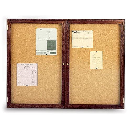 Ghent Hardwood Frame Cork Board - -