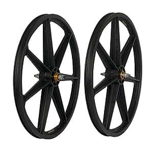 Skyway 24 Retro Tuff Graphite Mag SB Wheel Set 3/8 24 x 1.75 Freewheel Black