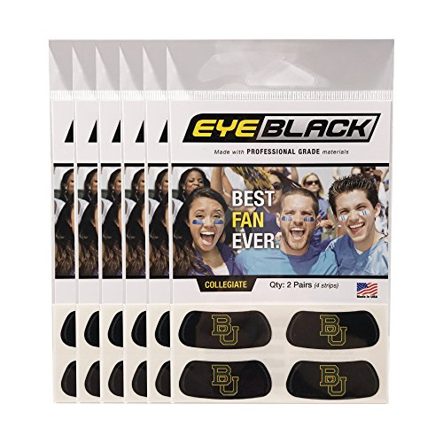 - EyeBlack (24 Strips) Baylor Bears Anti Glare Stickers, Great for Fans & Athletes on Game Day