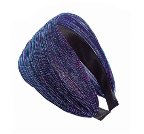 Femme Bandeau Cheveux Headband Dentelle Bleu Large Acvip Coiffure Accessoire PHqdzwq1x