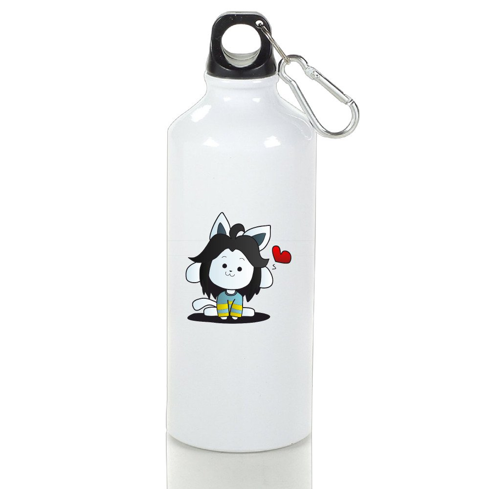 Discovery Wild DW Undertale Insulated Sports Water Bottle - Water Travel Cups With Stopper And Carabineer Clip - Suitable For Gyms, Biking, Camping And Outdoor Sports
