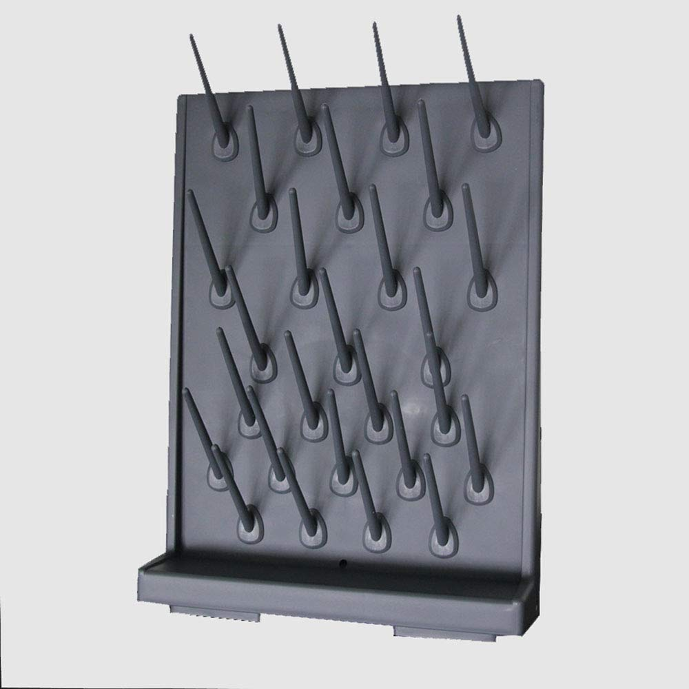 INTBUYING Black 27 Pegs Wall Desk Drying Rack Education&lab Cleaning Frame Support