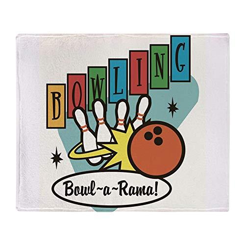 CafePress Retro Bowling Soft Fleece Throw Blanket, 50