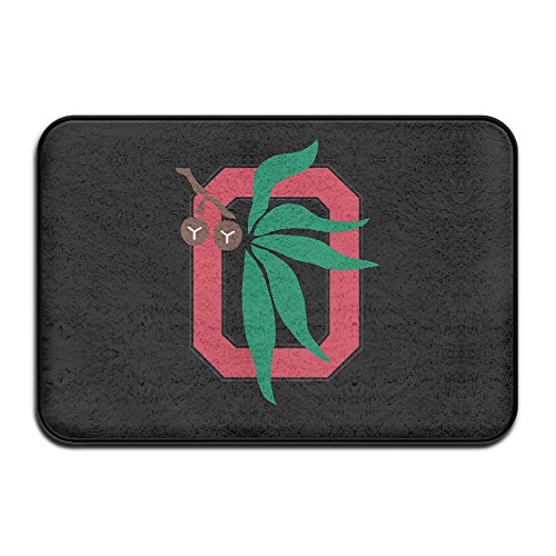 Columbus Flag Ohio - Ohio State Buckeye Tree Doormat And Dog Mat ,40cm60cm Non-slip Doormats,Suitable For Indoor Outdoor Bathroom Kitchen Doormat And Pets