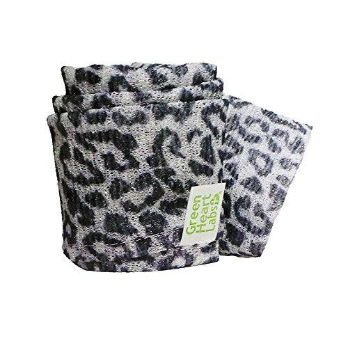 ExfoliMATE | Magic Exfoliating Shower Cloth Gently Removes Dead Skin for a Youthful Clear Complexion (EXOTIC ANIMAL)