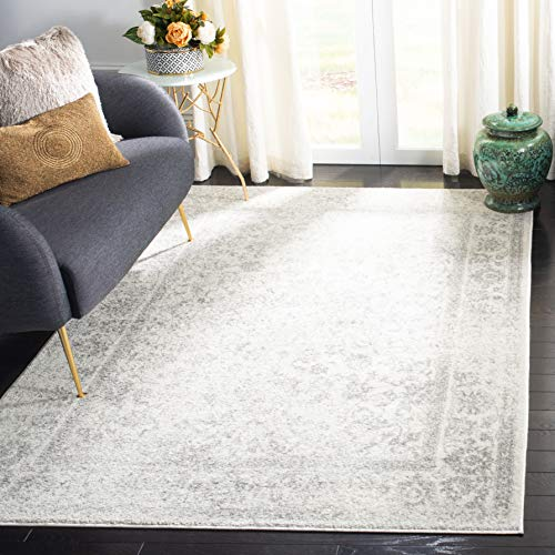 Safavieh Adirondack Collection ADR109C Ivory and Silver Oriental Vintage Distressed Area Rug (8