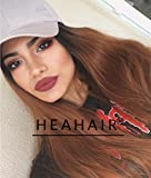 Heahair Fashion Natural Lace Hair Ombre Brown Synthetic Lace Front Wigs (Ombre Brown)