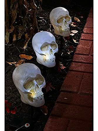 3pc Skull Pathway Lights