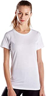 product image for US Blanks Ladies' 4.3 Oz. Short-Sleeve Crewneck 2XL White