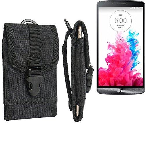 bolsa del cinturón / funda para LG Electronics G3, negro | caja del teléfono cubierta protectora bolso - K-S-Trade (TM)