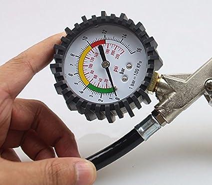 Coche Medidor de presión de los neumáticos metros hinchable ...