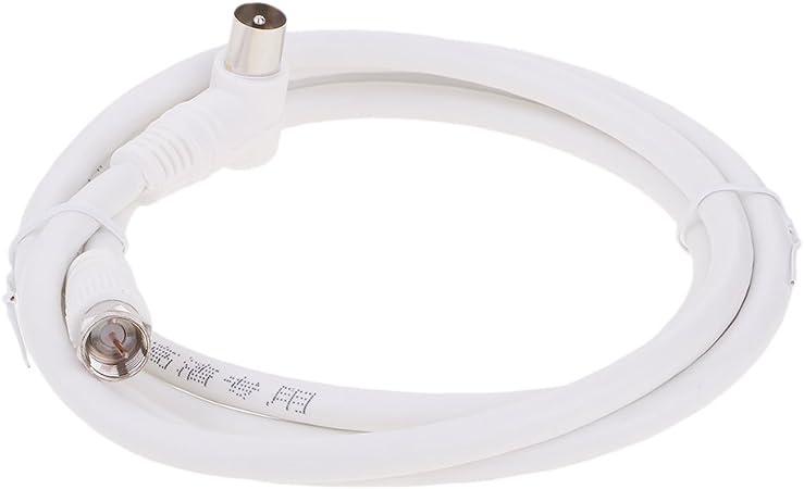 dovewill 4.9 ft F conector macho a TV RF Cable de extensión ...