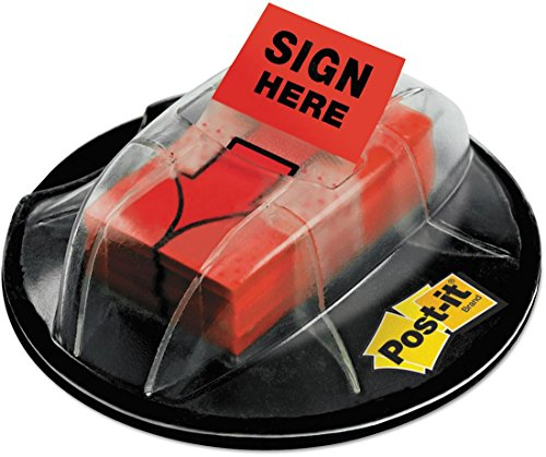 Wholesale CASE of 15 - 3M Desk Grip Dispenser with Sign Here Flags-Desk Grip Dispenser,w/ ''Sign Here'' Flags,200 Flags,Red by 3M