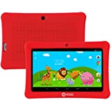 """Mother's Day! Contixo Kid Safe 7"""" HD Tablet WiFi 8GB Bluetooth, Free Games, Kids-Place Parental Control W/Kid-Proof Case (Red) - Best Gift"""