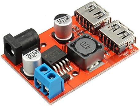 Ils - DC-DC 9V/12V/24V/36V To 5V Dual USB Buck Module Vehicle Charging Solar 3A Voltage Regulator Board