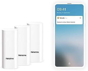 Smart Door & Window Sensor by Netatmo, Wireless, Pack of 3, DTGUS