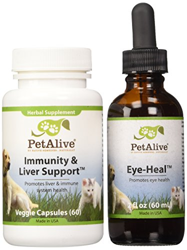 PetAlive Eye-Heal and Immunity & Liver Support ComboPack