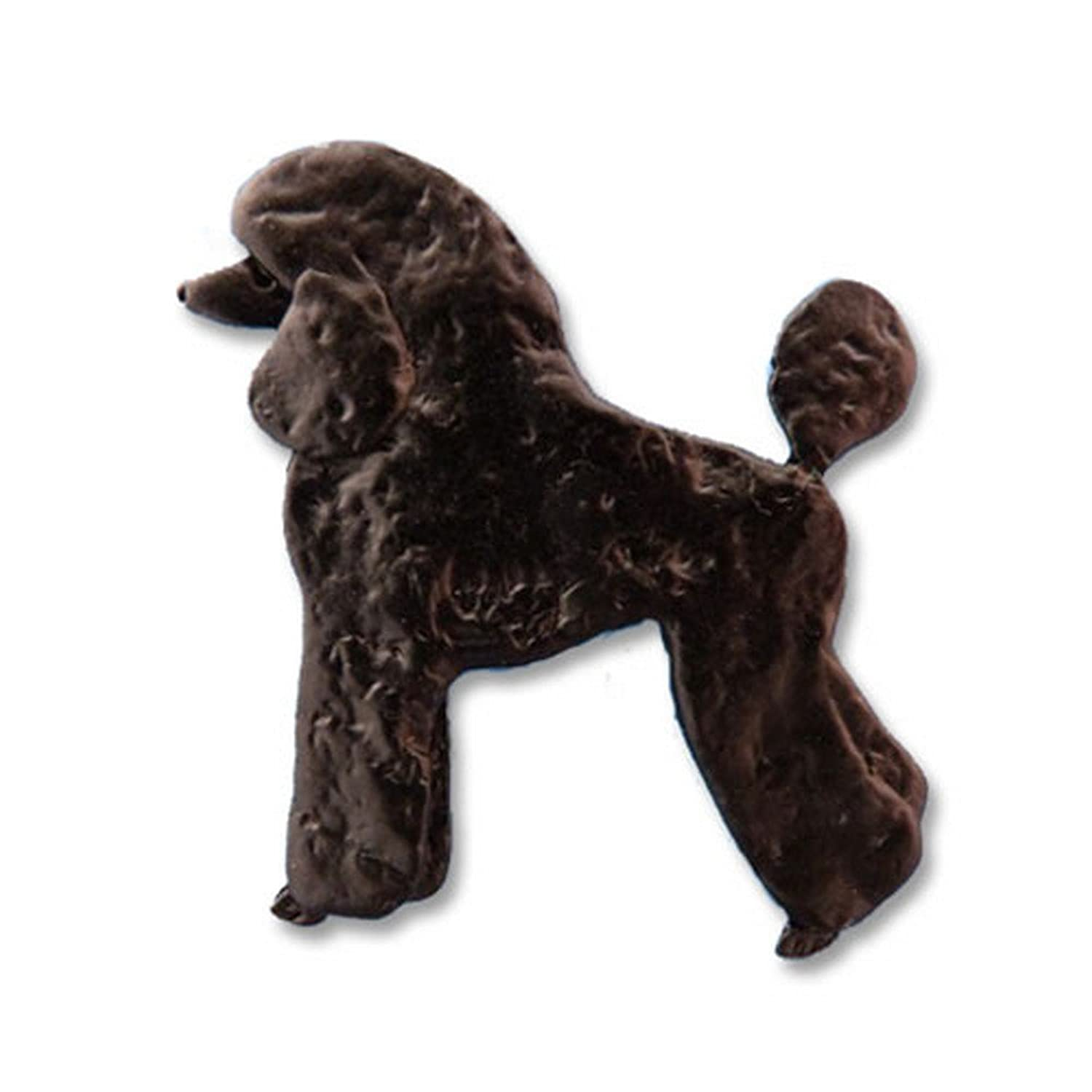 Enamel Black Poodle Pin by The Magic Zoo