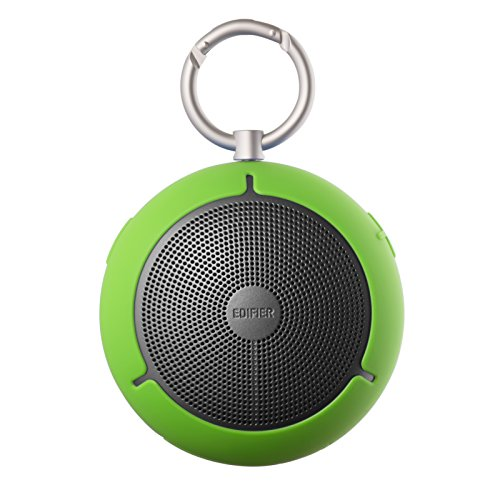 Edifier MP100 Portable Bluetooth Speaker – Wireless Splash/Dust Proof Boombox with microSD Card for Hiking Camping and Outdoors Activities – Green