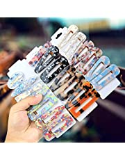 Acrylic Resin Hair Barrettes for Women Ladies Pterxiog 20 Pack Fashion GeometricTortoise Shell Leopard Marble Alligator Hair Clips for Party Birthday Daily Hair styling Hairpins 20 Pack Acrylic Resin Hair Clips