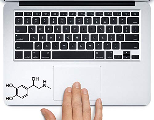 Adrenaline Molecule Science Chemistry Printed Trackpad Clear Vinyl Decal Sticker Compatible with Apple MacBook Pro Air 11