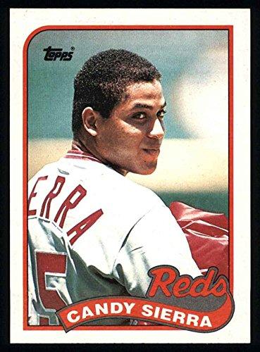 - 1989 Topps # 711 Candy Sierra Cincinnati Reds (Baseball Card) Dean's Cards 8 - NM/MT Reds