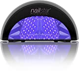 NailStar Professional 12W LED Nail Dryer Nail Lamp for Gel Polish with 30sec, 60sec, 90sec and 30min Timers (Black)