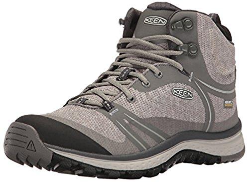 KEEN Women's Terradora Mid Waterproof Hiking Shoe, Gargoyle/Magnet, 7 M US -