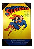 Silver Buffalo DC Comics Featuring Superman The Man of Steel and Lois Lane Issue No. 57 Wood Wall Art Vintage Look 19 x 13