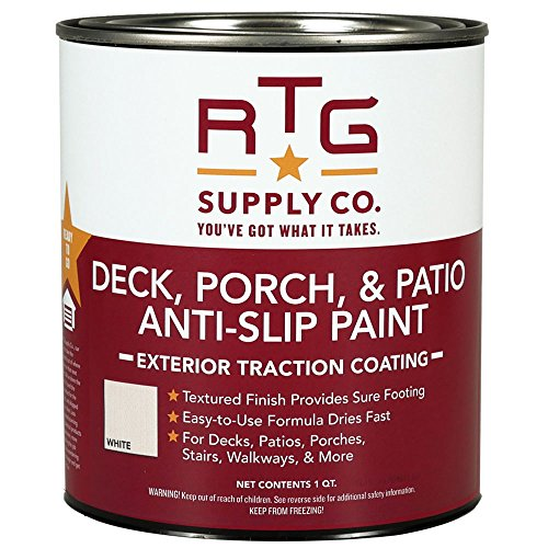 RTG Deck, Porch, Patio Anti-Slip Paint (Quart, White)