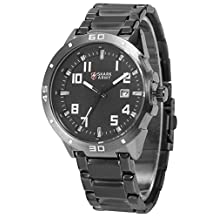 Shark Army Military Style Date Gunmetal Stainless Steel Band Quartz Men's Wrist Watch SAW074