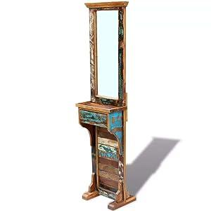 Xingshuoonline Miroir Maquillage Miroir pour Couloir Bois Massif recyclé 47x 23x 180cm d'Casa Miroir Mural Poli, Peinte et laqué