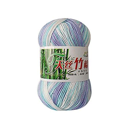 (Clearance Sale! Rainbow Yarns for Knitting Crochet Craft,KFSO Hand Knitting Knicker Bamboo Cotton Yarn Crochet Soft Scarf Sweater Hat Yarn Knitwear Wool (G))