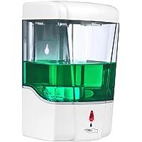 Konesky - Dispensador automático de jabón para manos (700 ml, dispensador de jabón automático, 700 ml), transparente…