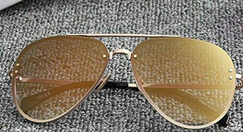 Lunettes De Soleil Rétro Pour Femmes Lunettes De Soleil Légères Monture En Métal Lunettes De Protection UV Lunettes De Soleil à Monture Large pink