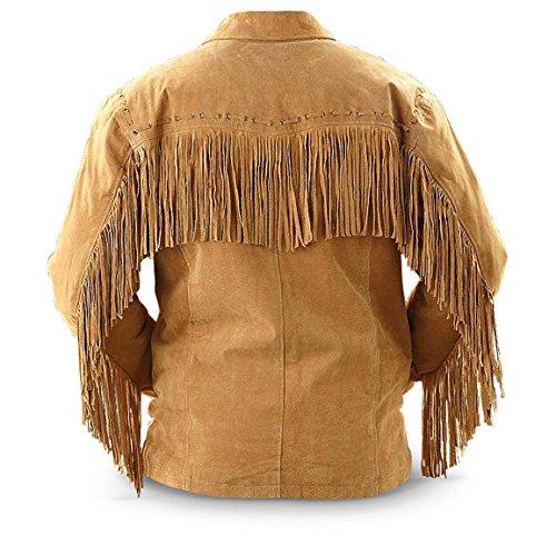 Bestzo Uomo Suede Brown Giacca Leather UPrAUwq
