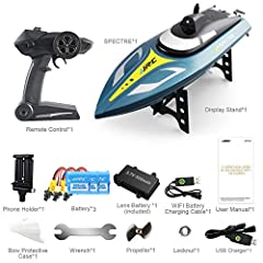What Are You Waiting For? Get this Spectre Boat for your fun.        Item No: JJR/C S4 Color: Blue  Max speed: About 25km/h Motor: Brushless motor Frequency: 2.4G Remote Distance: About 150m Battery: 4 x AA (not included) Boat Battery:...