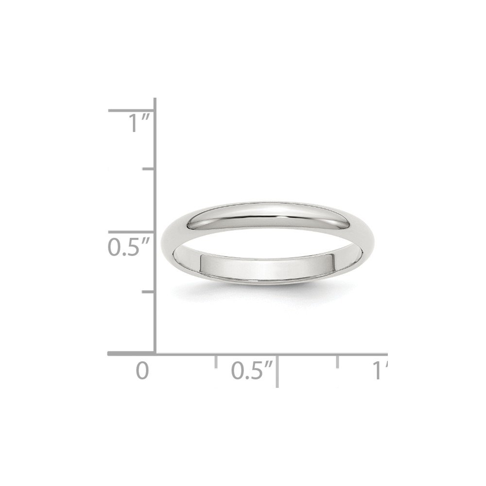 FB Jewels Solid Sterling Silver 4mm Half-Round Wedding Band
