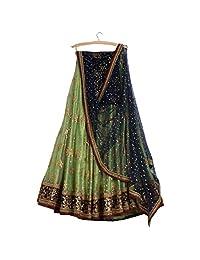 AMIT FASHIONS Indian Lehenga Choli for Women Green