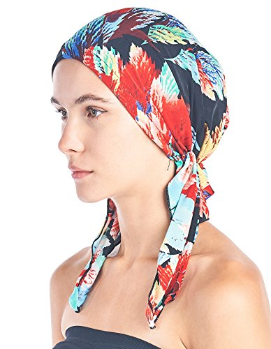 Ashford & Brooks Pre Tied Bandana Turban Chemo Head Scarf Sleep Hair Cover Hat