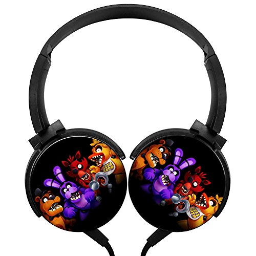Welcome to Freddy's Stereo Headphones Lightweight with Mic Over Ear, Cartoon Headsets for iPhone, Ipad, Smartphone and Tv 3.5Mm Black