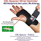 New C&A Support 3D Breathable Patented Fabric RSI Night Wrist Splint, Night Wrist Sleep Support for Carpal Tunnel, Tendonitis, Wrist Pain, Sprains, Adjustable