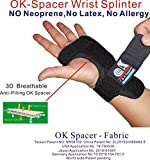 C&A Support, WS-OS-20, New 3D Breathable Patented Fabric RSI Night Wrist Splint, Night Wrist Sleep Support for Carpal Tunnel, Tendonitis, Wrist Pain, Sprains, Adjustable