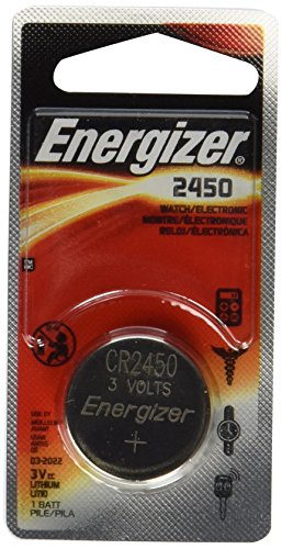 Energizer CR2450 Lithium Battery, 3v ECR2450, 12 PK (Lithium Cr2450 3v Coin Cell)