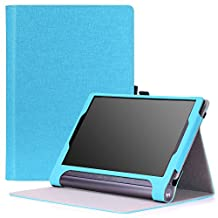 MoKo Lenovo Yoga Tab 3 Plus / Lenovo Yoga Tab 3 pro 10 Case - Slim Folding Cover Case for Lenovo Yoga Tab 3 Plus 10.1/ Lenovo YOGA Tab 3 Pro 10.1 Inch Tablet, Light BLUE