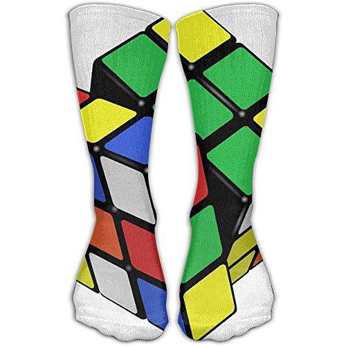 Playing Magic Cube Women & Men Socks Soccer Sport Tube Stockings Length 30cm