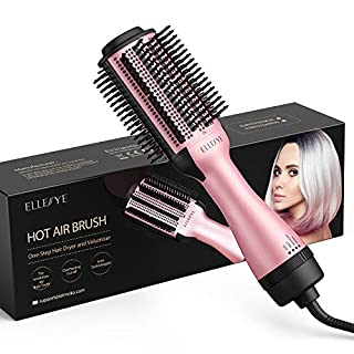 Hot Air Brush, [Newest 2020] ELLESYE Hair Dryer Brush with Ion Technology,1000w Brush Hair Dryers for Women,3 Heating One Step Dryer and Volumizer for mid-length/long hairstyles (1.5inch)